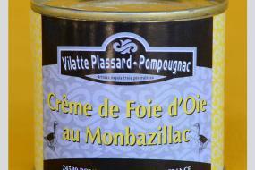 Photo représentant la boîte de crème d'oie au Monbazillac