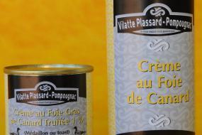 Photo représentant les boîtes de crème au foie de canard truffée
