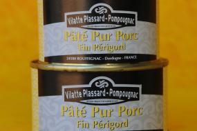 Photo représentant les boîtes de paté pur porc - fin périgord