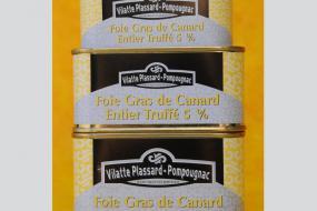 Photo représentant la gamme du foie gras de canard entier truffé