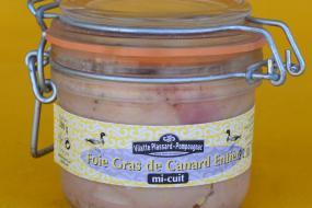 Photo représentant le bocal de foie gras canard mi-cuit 200g