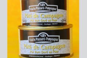 Photo représentant les boîtes de paté de campagne