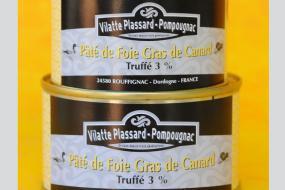Photo représentant les boîtes de paté de foie gras de canard truffé