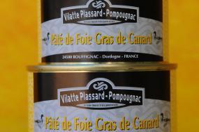 Photo repésentant les boîtes de paté de foie gras de canard