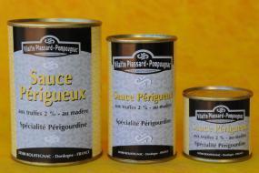 Photo représentant les boîtes de sauce Périgueux