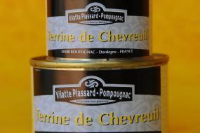 Photo représentant les boîtes de terrine de chevreuil