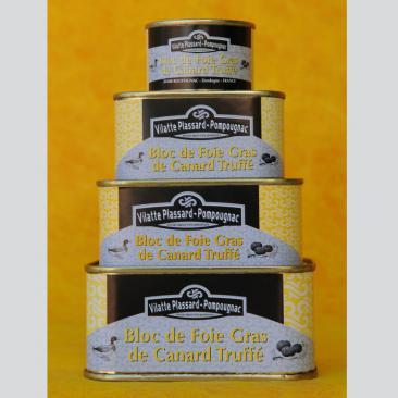 Photo représentant la gamme de bloc de foie gras de canard truffé