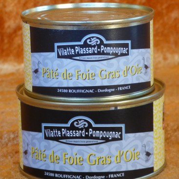 boite de paté de foie gras d'oie