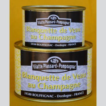 Photo représentant les boîtes de blanquette de veau au champagne