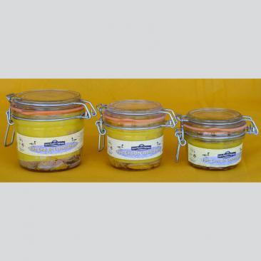 Photo représentant la gamme de foie gras entier de canard