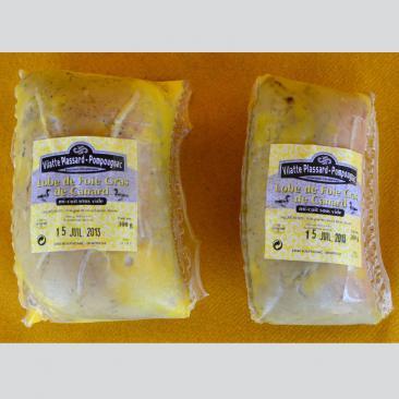 Photo représentant la gamme de lobe de foie gras de canard mi-cuit